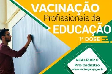 Vacinação para os profissionais da Educação tem início neste sábado (10/04)