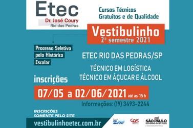 ETEC: Inscrições para o 2º semestre de 2021