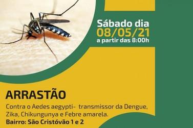 Neste sábado (08/05) a Prefeitura realizará o arrastão contra o Aedes Aegypti