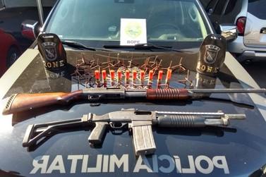 Bope apreende armas utilizadas em assalto a banco em Curitiba