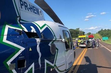 Acidente grave na BR 277 deixa um morto e cinco feridos