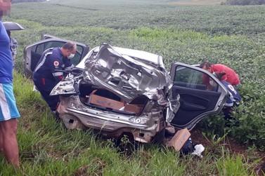 Motorista fica ferido em grave acidente em Chopinzinho