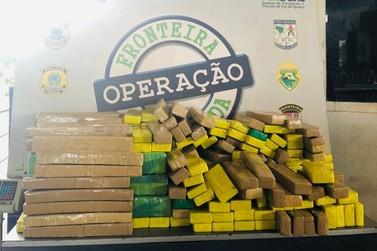Van escolar é apreendida com 265 kg de maconha em fundo falso, em Foz do Iguaçu