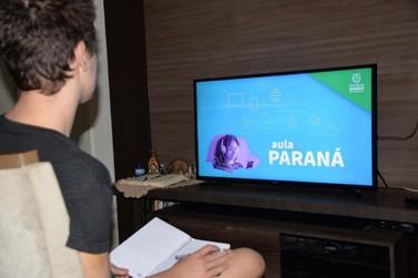 Atividades remotas do Aula Paraná retornam nesta quarta