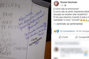 Postagem de professora que recebeu atividade em branco de aluna viraliza