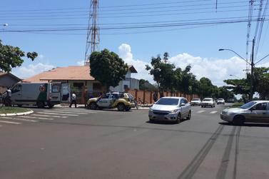 Acidente de trânsito é registrado no centro de Santa Helena