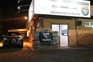 BPFRON apreende quase 1 tonelada de maconha em Entre Rios do Oeste