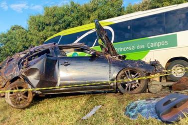 Motorista fica gravemente ferido em acidente na BR 277