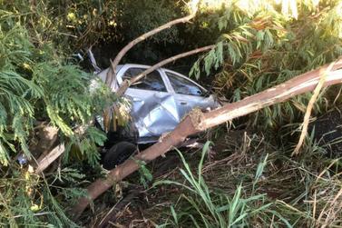 Mulher fica ferida após acidente na BR-163 em Marechal Rondon