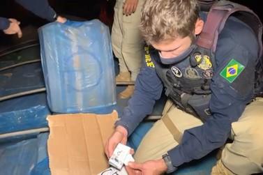 PRF prende 3 pessoas e apreende 1 milhão de maços de cigarros contrabandeados