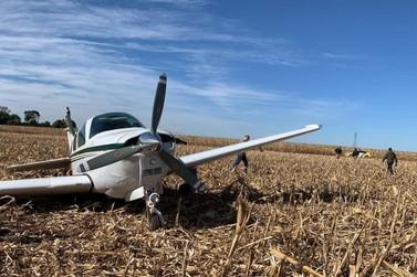 Aeronave faz pouso forçado em plantação entre Cascavel e Santa Tereza do Oeste