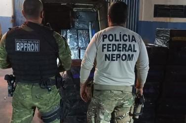 Policiais apreendem carro carregado com cigarros contrabandeados em Itaipulândia