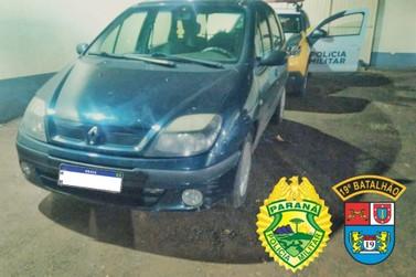Policiais militares recuperam veículo furtado em operação em Santa Helena