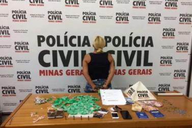 Mulher é presa acusada de tráfico de drogas em Santa Rita