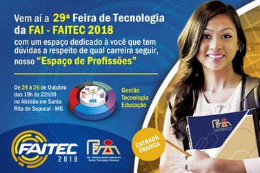 Está chegando a FAITEC 2018 de 24 a 26 de Outubro