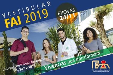 """FAI abre inscrições para o Vestibular 2019 """"Vivências que transformam"""""""