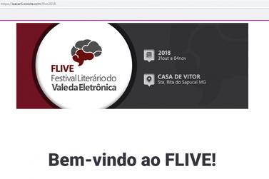 Organização do FLIVE disponibiliza site com programação completa do festival