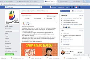 Apresentação do humorista Gustavo Mendes em Santa Rita é cancelada