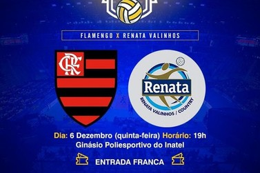 Voleibol feminino: Flamengo enfrenta Renata Valinhos no Ginásio Inatel em SRS