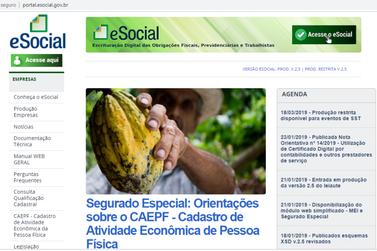 eSocial: Autônomos e trabalhadores rurais devem se cadastrar no site da Receita