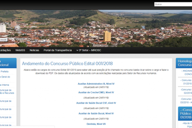 Prefeitura de Santa Rita divulga andamento das chamadas para Concurso Público