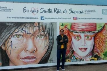 Empresário promove exposição de arte para homenagear Santa Rita do Sapucaí
