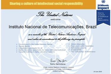 Inatel passa a integrar rede acadêmica de impacto da ONU