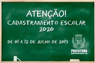 Secretaria Municipal de Educação divulga período de Cadastramento Escolar