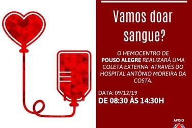 Hemocentro de Pouso Alegre faz coleta externa de sangue em Santa Rita do Sapucaí