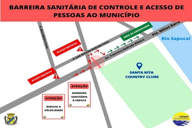 Saiba como será a barreira sanitária que começa amanhã em Santa Rita