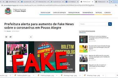 Covid-19: Com terceiro caso confirmado Pouso Alegre combate também as Fake News