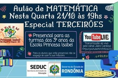 Escola Princesa Isabel realiza o Aulão de Matemática nesta quarta-feira (21)
