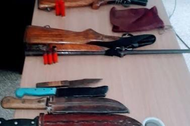 Polícia Militar apreende três armas na zona rural de Alvorada do Oeste