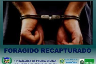 Quatro foragidos são capturados no mesmo dia em São Miguel do Guaporé