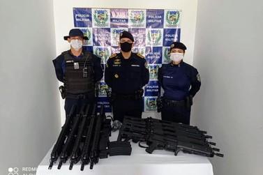 Subcomandante da Polícia Militar visita área do 11°BPM e entrega armamentos