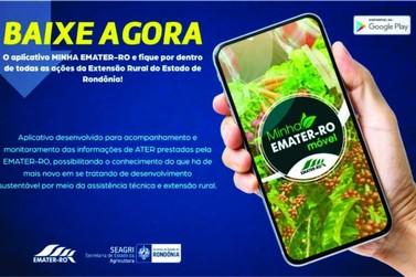 """Aplicativo """"Minha Emater"""" vai aproximar extensionistas e produtores de Rondônia"""