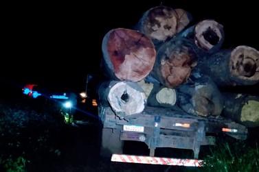 Polícia Militar apreende madeiramento ilegal em Seringueiras