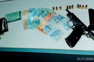 Polícia Militar apreende pistola e munições em Santana do Guaporé