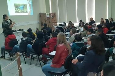 Aula especial inaugura sala de educação da Polícia Ambiental