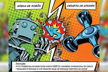 Congresso Internacional da Unipar vai ter competição de robôs e drones