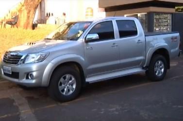 Caminhonete roubada em Douradina é recuperada em Umuarama