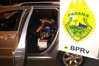Polícia Rodoviária apreende veículo com receptores de TV na PR-323