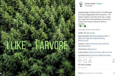 '1 like = 1 árvore': campanha de estudantes umuaramenses viraliza no Instagram