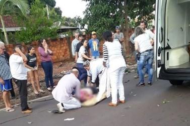 Fio telefônico derrubado por caminhão atinge e mata idosa em Pérola