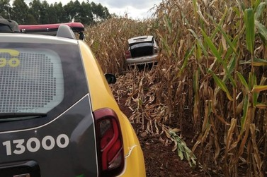 Polícia Militar recupera na região veículo que foi roubado em Moreira Sales