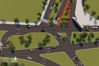 Imagem mostra como serão as ligações entre grandes avenidas de Umuarama