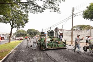 Recapeamento da Avenida Apucarana, em Umuarama, será finalizado dentro do prazo