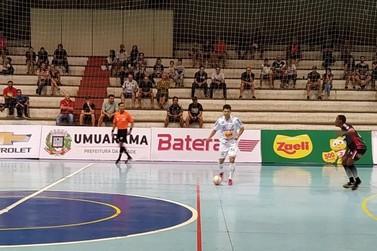 Umuarama Futsal faz último jogo da primeira fase perante a torcida nesta terça
