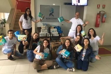 Norospar recebe doações de fraldas e potes para armazenamento de leite materno