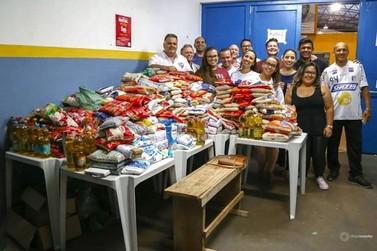 Final da Taça FPFS arrecadou 750 quilos de alimentos para famílias carentes